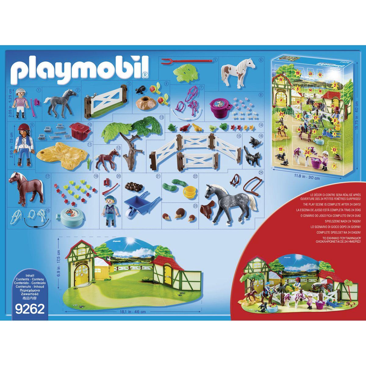 Calendrier L Avent Playmobil.Playmobil Christmas Calendrier De L Avent Centre Equestre 9262