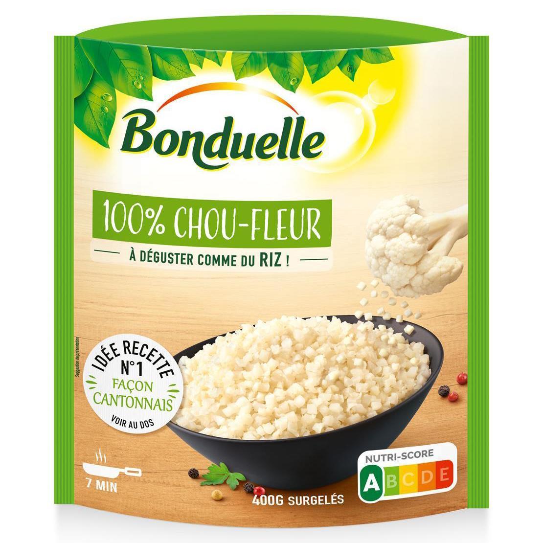 Bonduelle 100% choux fleur A déguster comme du riz, 400g