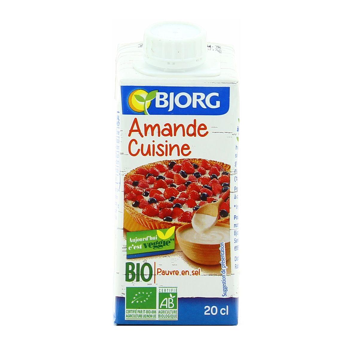 Livraison A Domicile Bjorg Amande Cuisine Bio 200ml