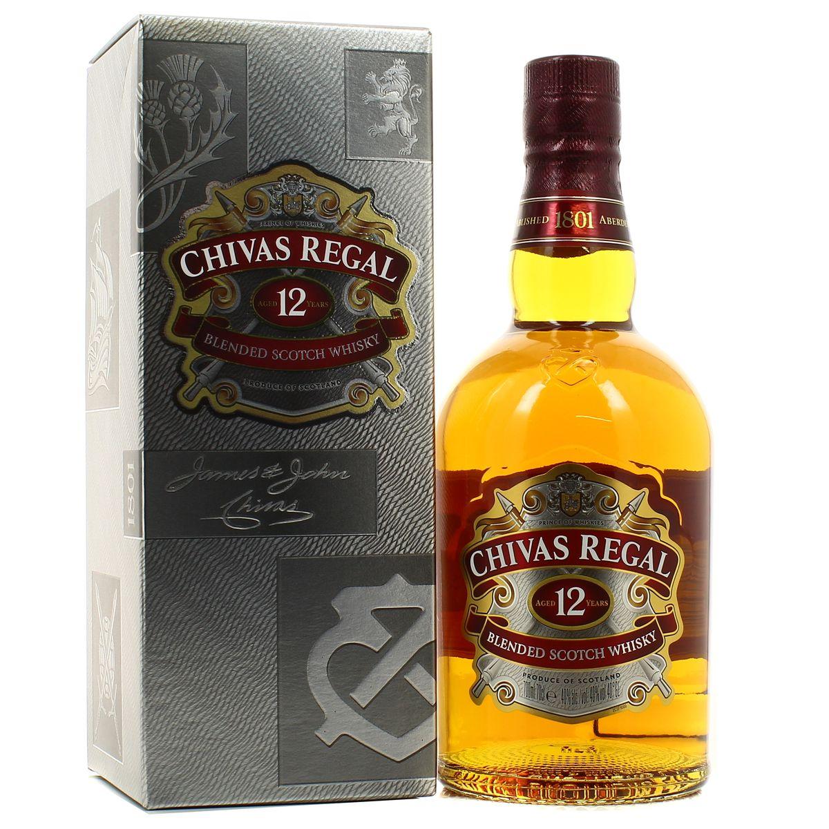 25dcdbfa3e24 Chivas Regal Blended scotch whisky 12 ans 40°, 70cl : houra.fr
