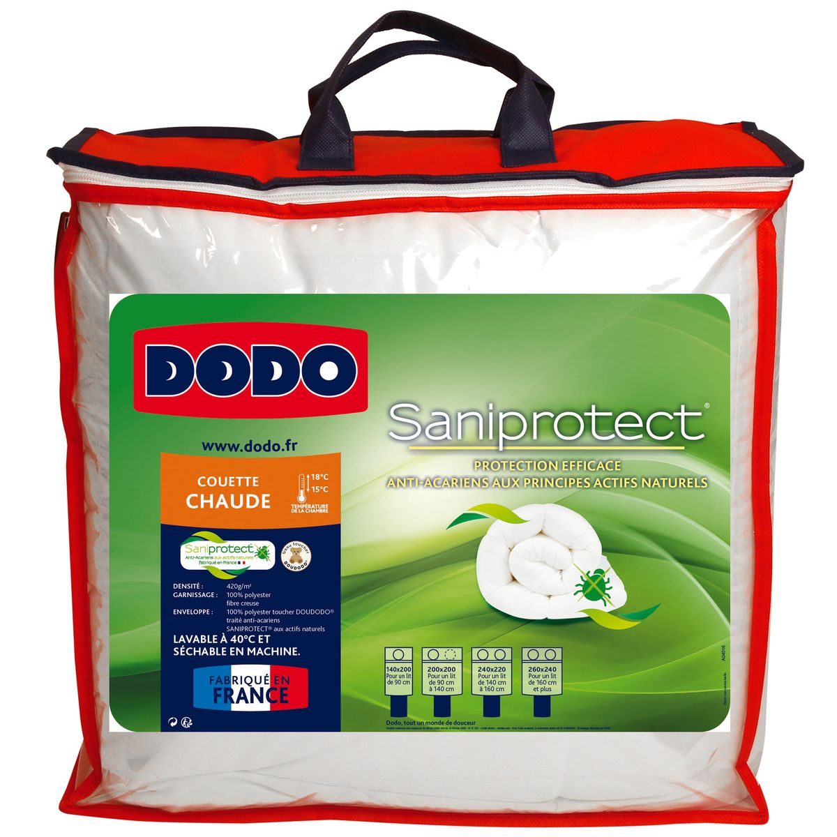 Dodo Couette chaude saniprotect, 240x260
