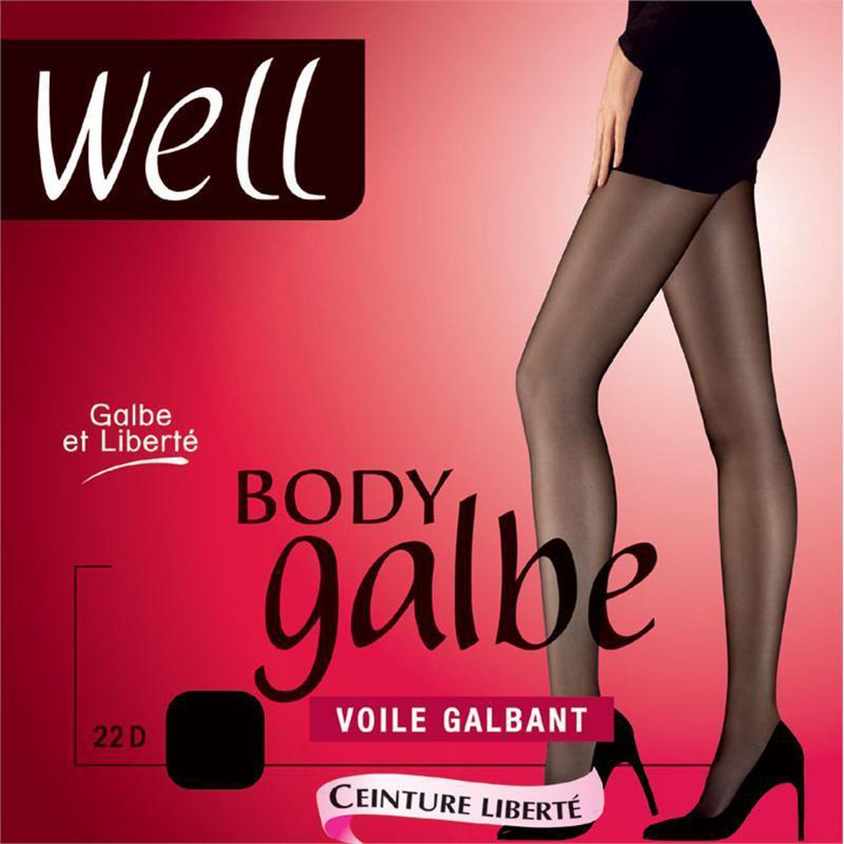 Well Collant Body Galbe voile galbant Noir 85046fece55