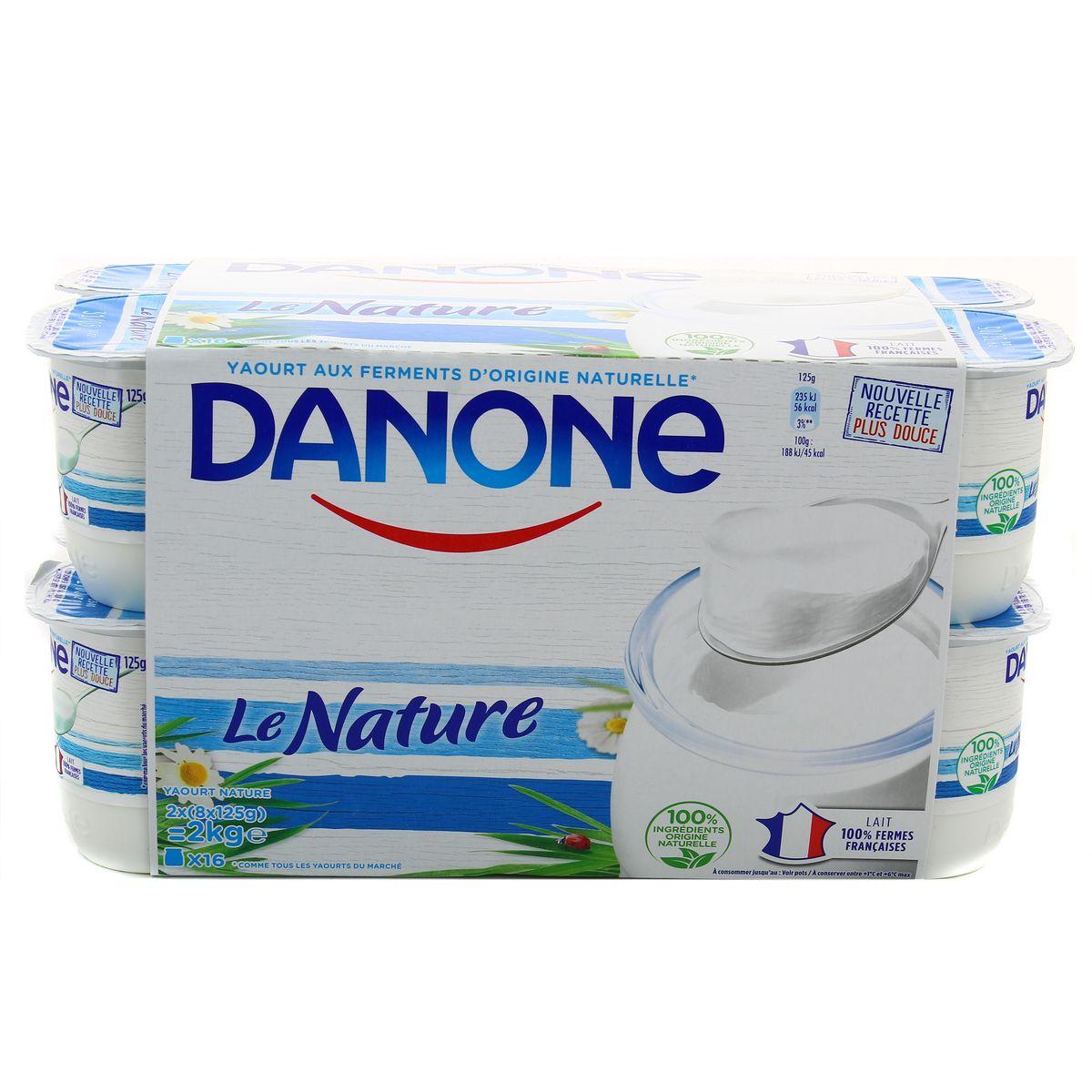 Danone Yaourt Nature 16x125g Hourafr