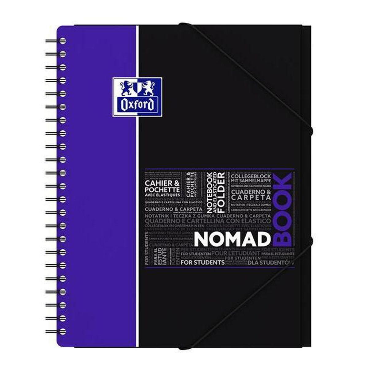 Oxford Cahier à Spirales 24 X 32 Cm Nomadbook Grands Carreaux 160 Pages