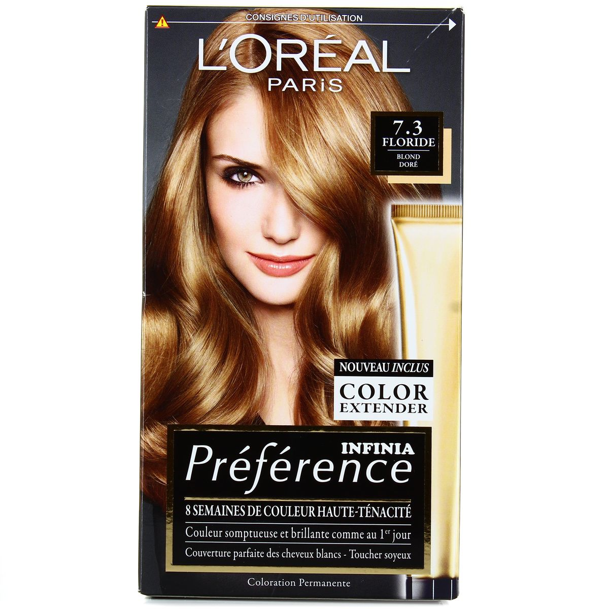 Coloration blonde dore
