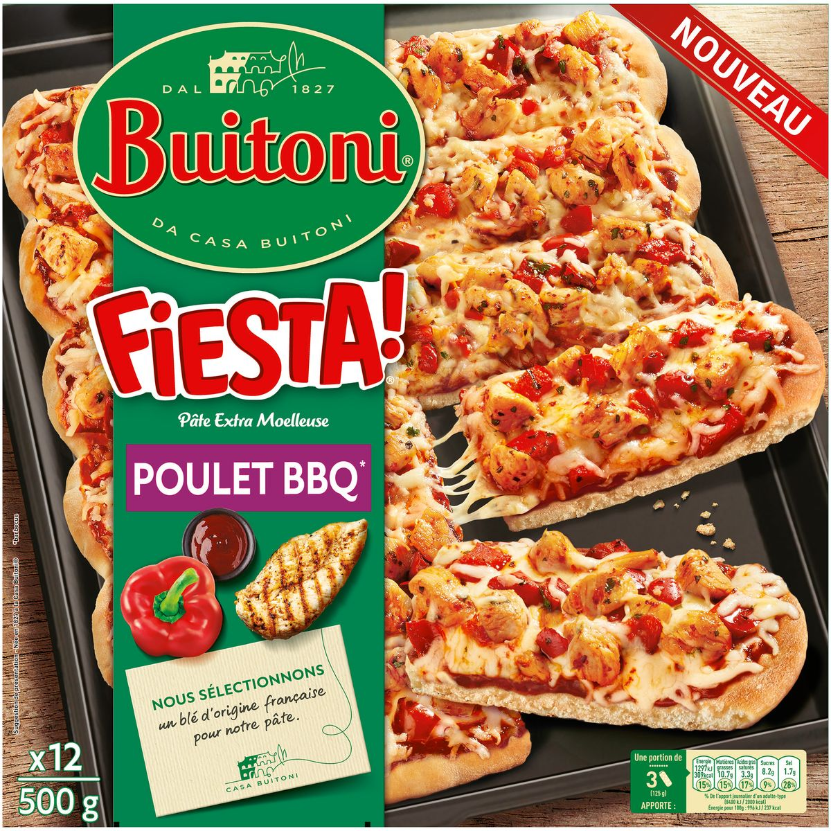 Buitoni Fiesta Pizza Poulet Barbecue Et Sa Pate Extra Moelleuse