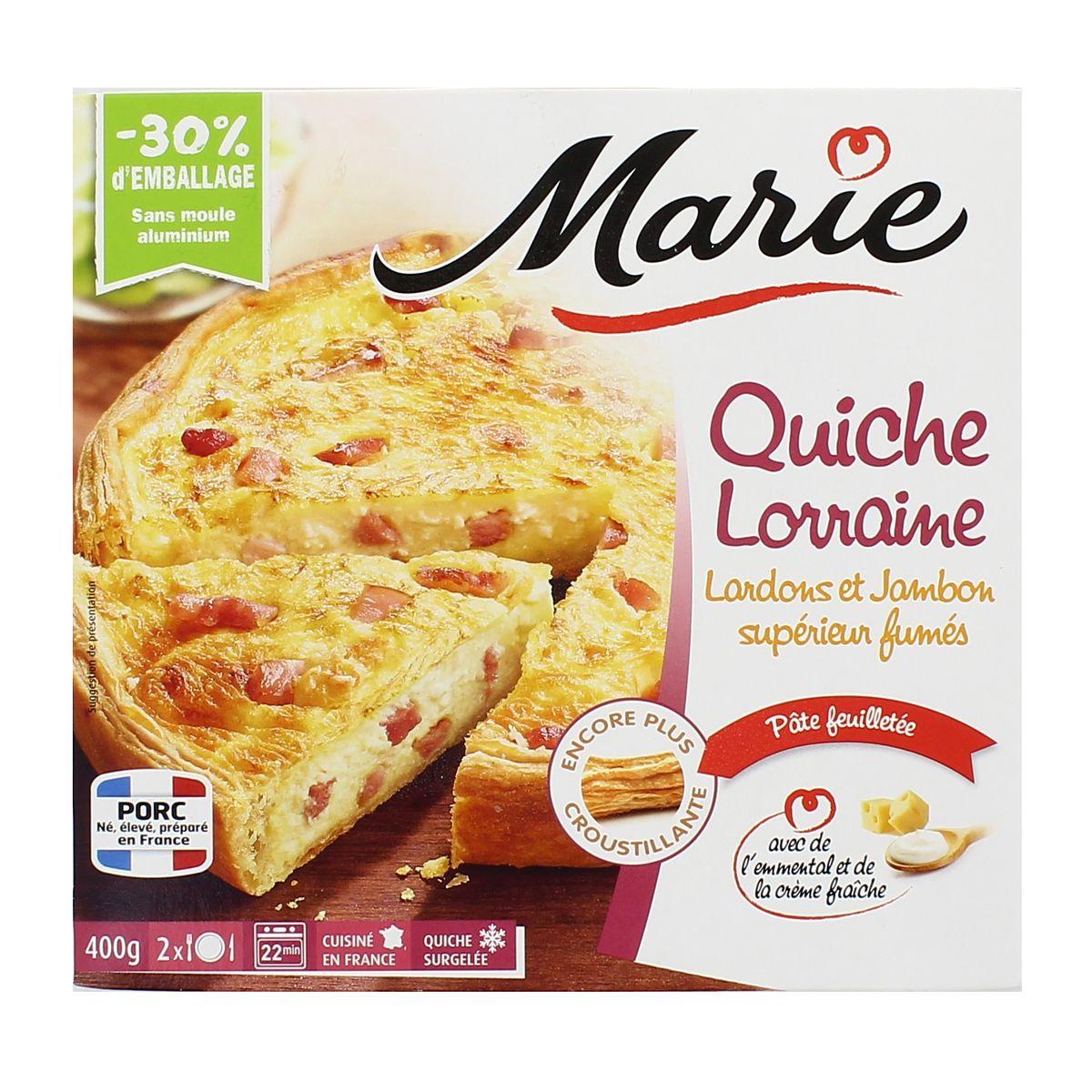 Marie Quiche Lorraine Lardons Et Jambon Supérieur Fumés Emmental