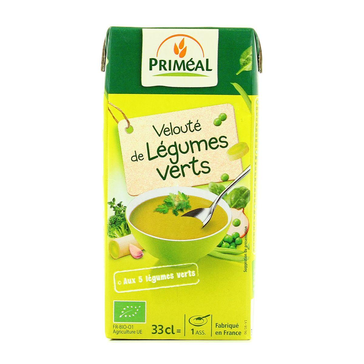 priméal velouté de légumes verts bio format individuel 33cl