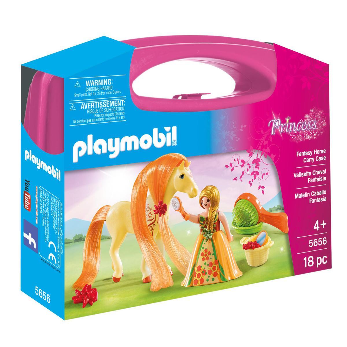 PLAYMOBIL® Princess Valisette Princesse et cheval à coiffer, 5656