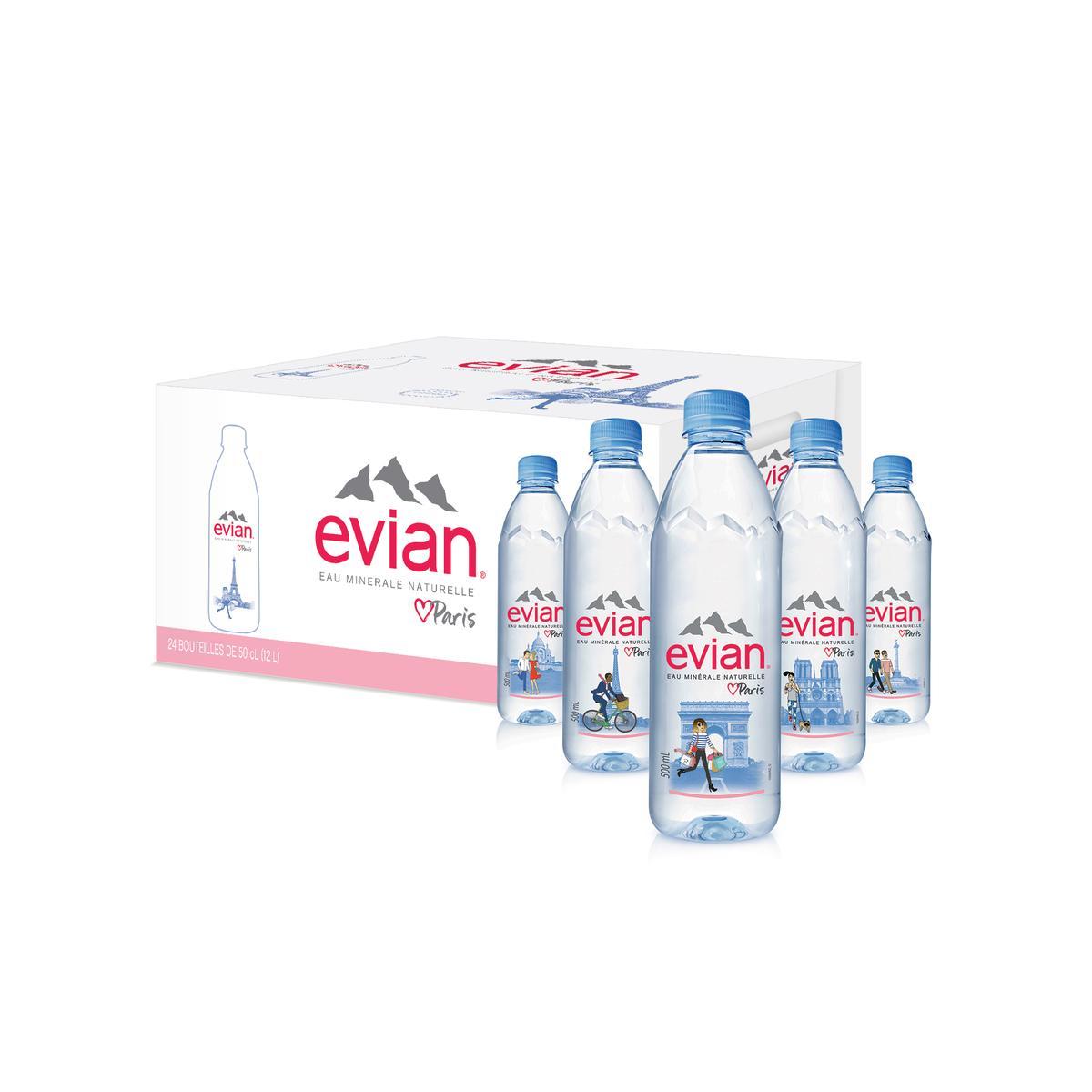 Calendrier Evian.Evian Prestige City Bottle 24x50cl
