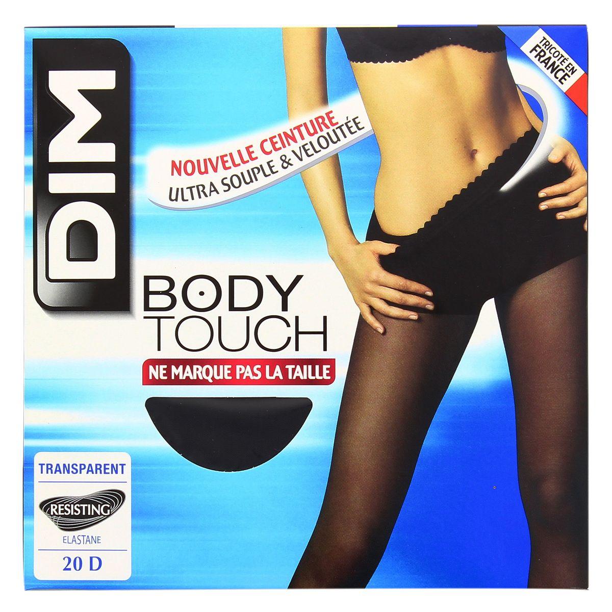 Dim Collant Body Touch transparent Noir Taille 1