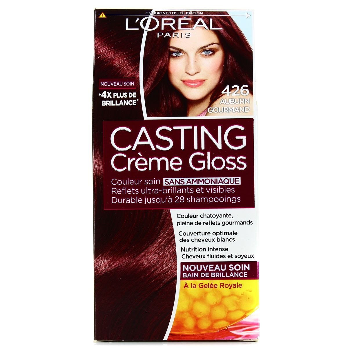 Coloration gloss cheveux blancs