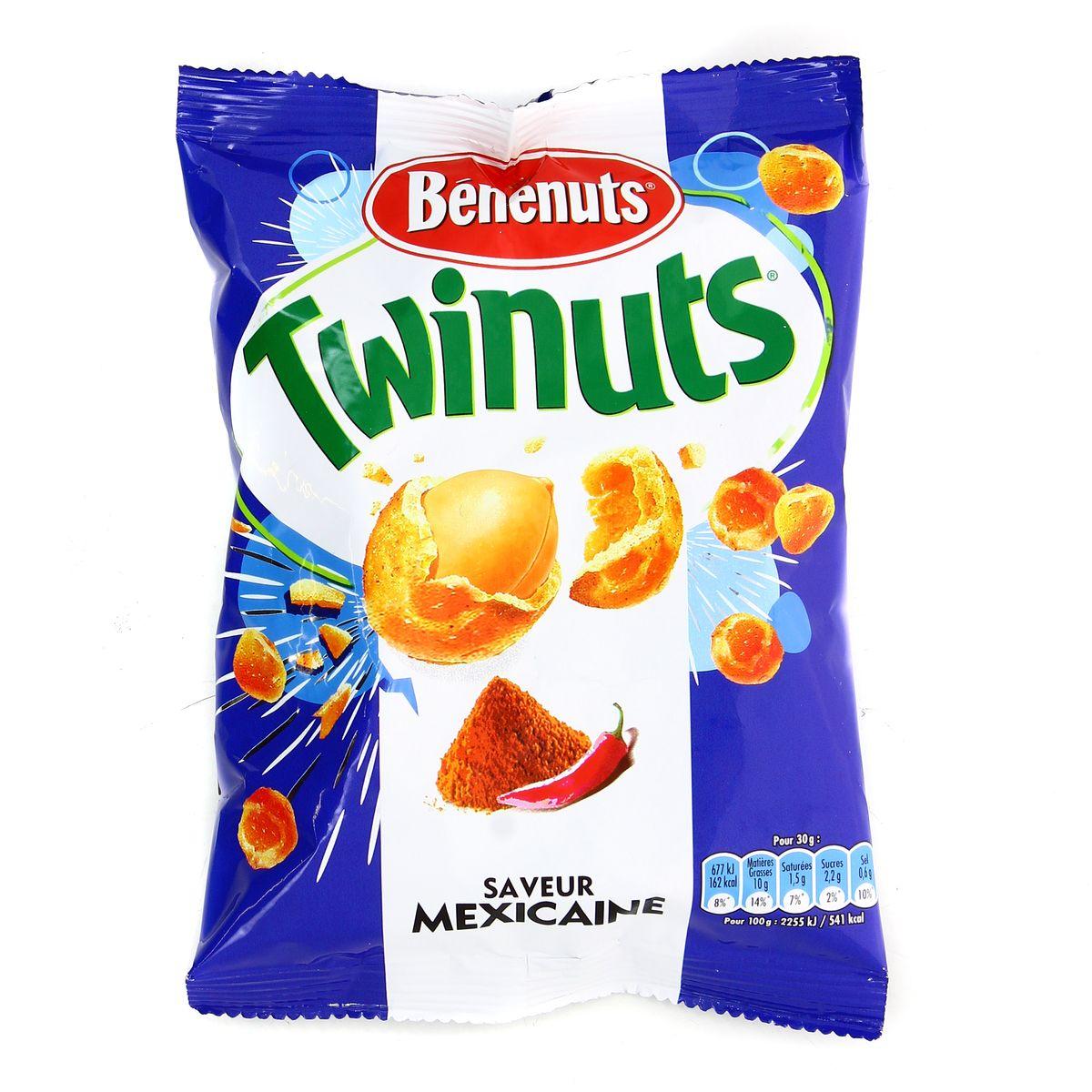 Livraison à domicile Benenuts Twinuts saveur mexicaine, 10g