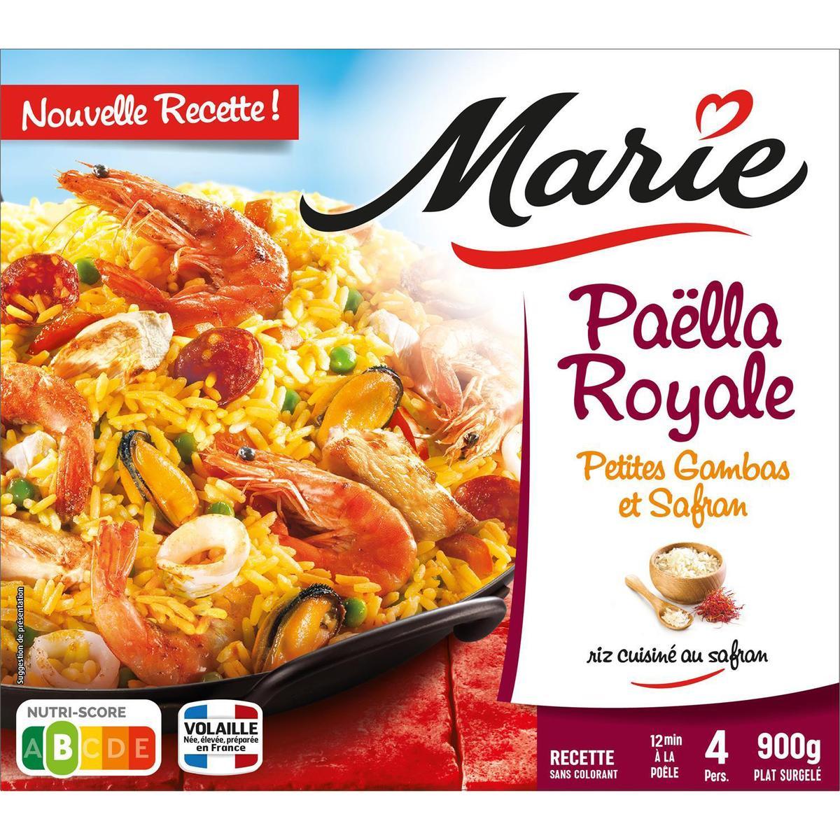Marie Paella Royale Petites Gambas Et Safran Avec Du Riz Cuisine