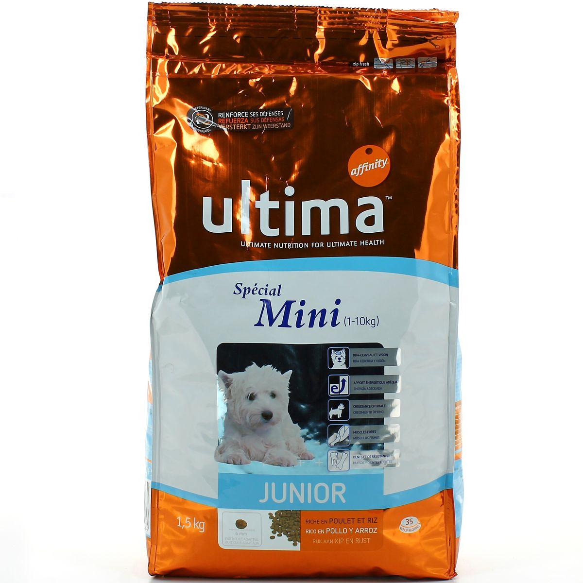 Ultima Affinity Croquette Pour Chien Special Mini Junior 15kg