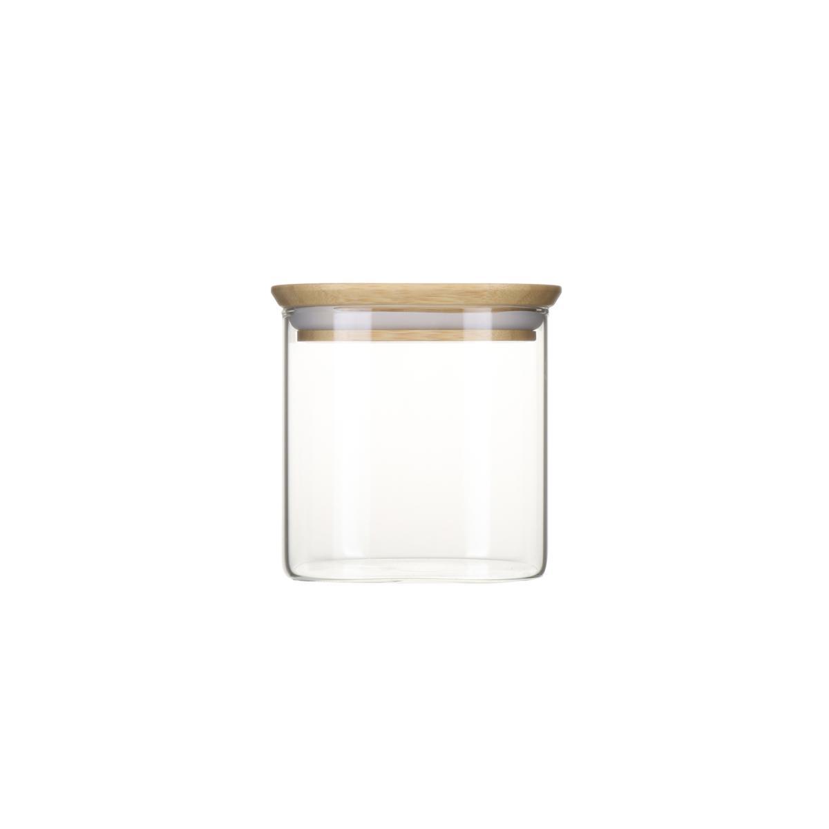 Boite Rangement Hermétique Cave achat / vente pebbly boite conservation verre et bambou carrée, 880ml