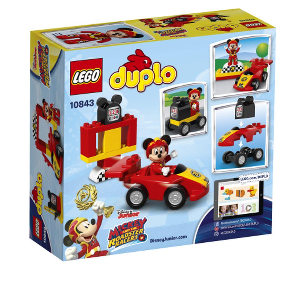 La Voiture 10843 Course Mickey Lego® Mouse De Duplo® P8nwkX0O
