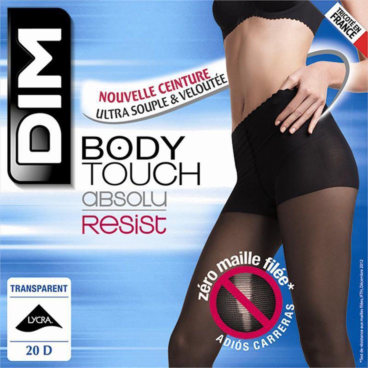 Dim Collant Body Touch Absolu Resist transparent Noir 9d01b4a6022
