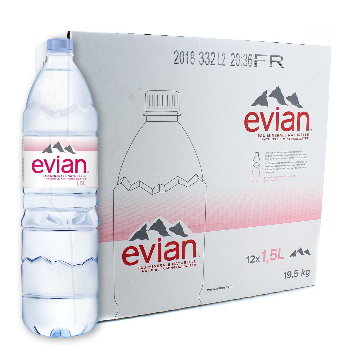 Calendrier Evian.Evian Eau Minerale Naturelle 12x1 5l