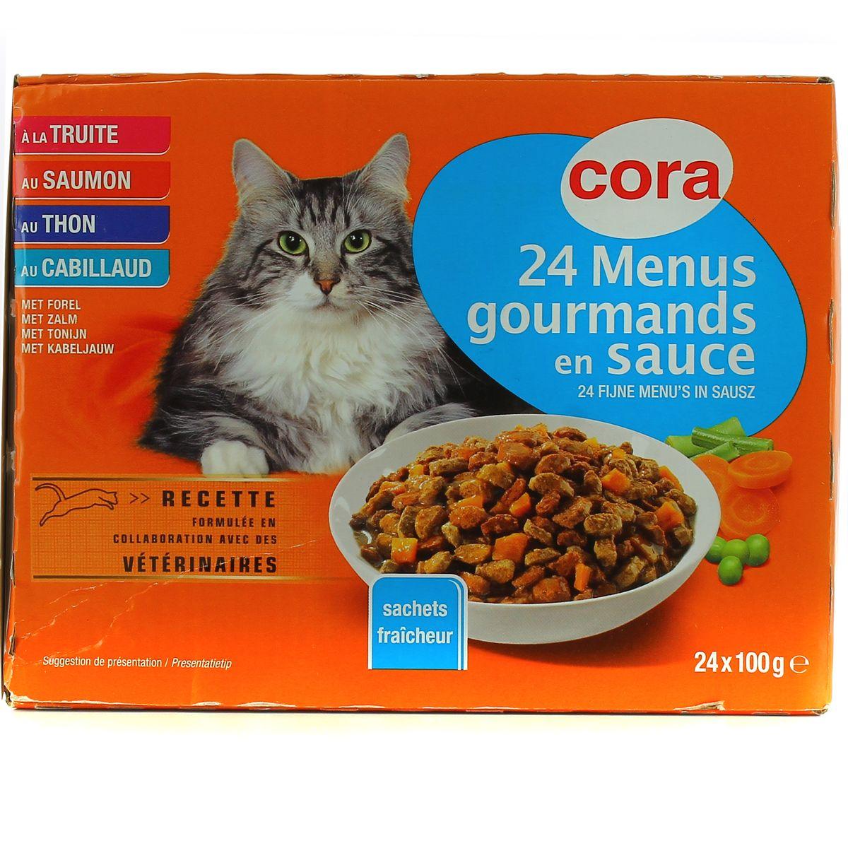 Cora Menu De Noel.Cora Menus Gourmands En Sauce Pour Chat 24x100g