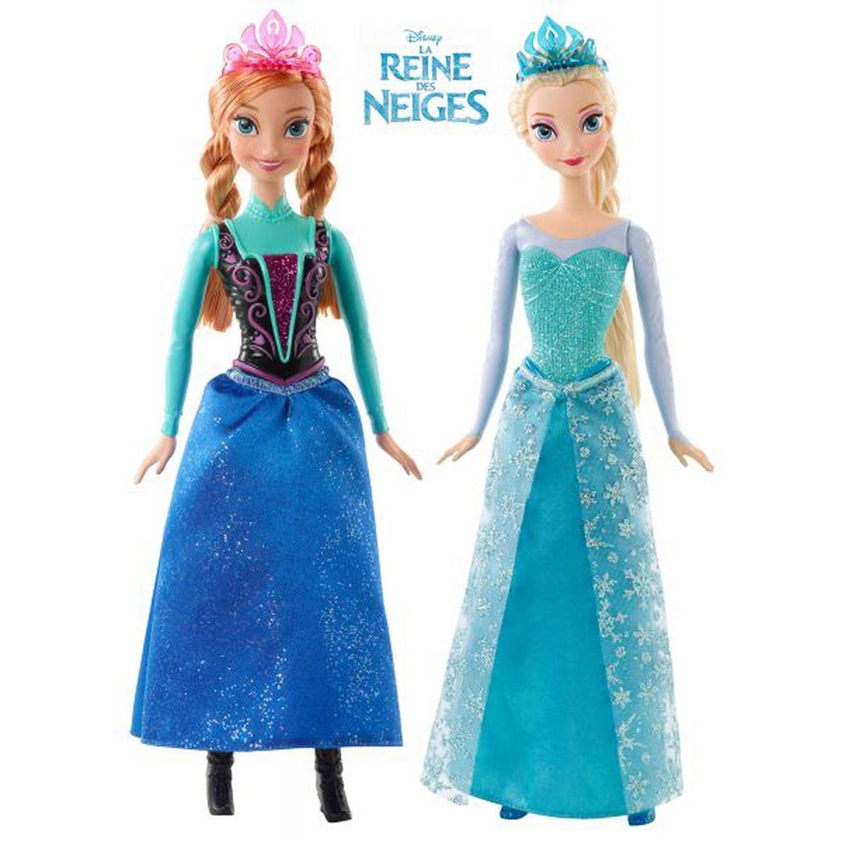 mattel anna ou elsa paillettes reine des neiges cjx74 - Barbie Reine Des Neiges