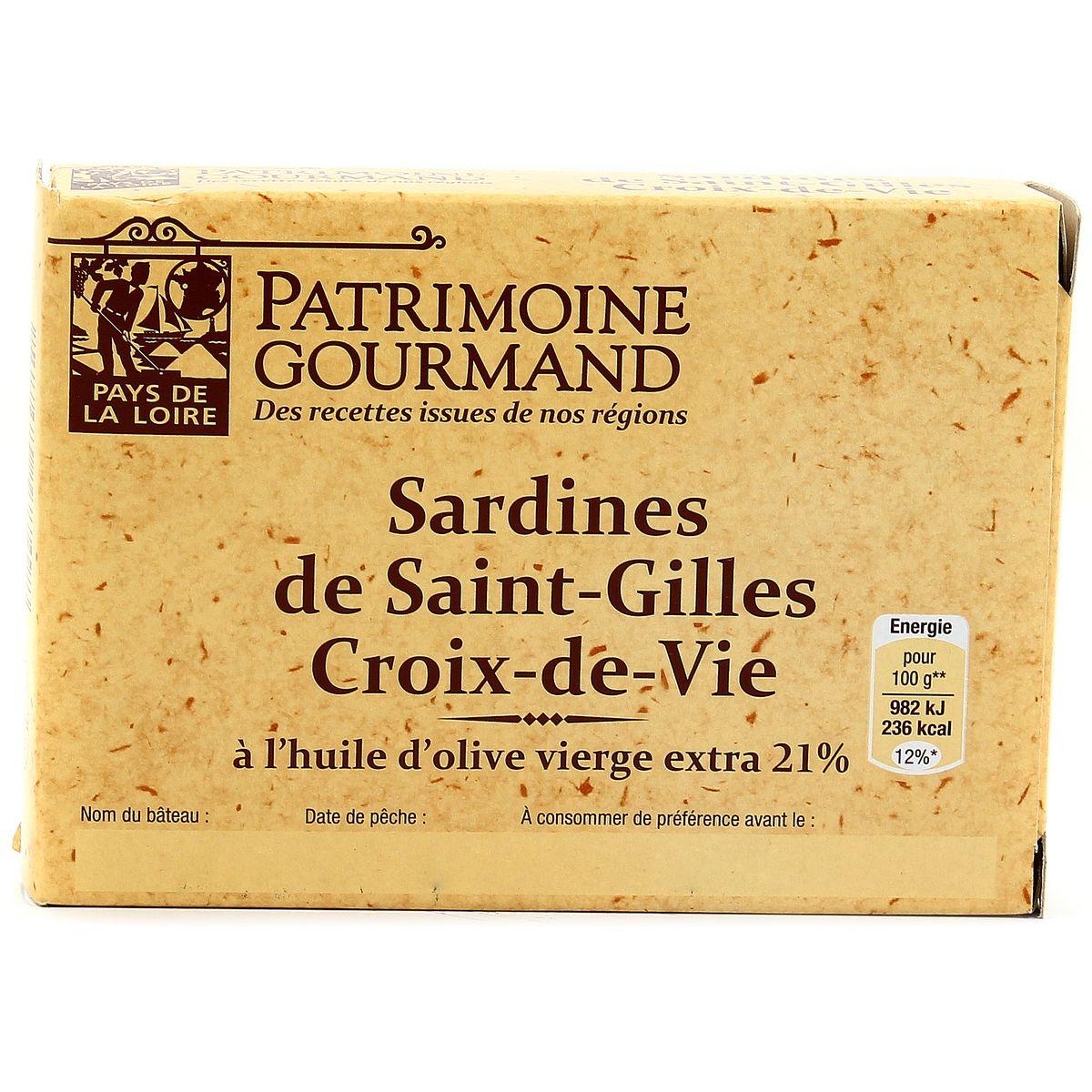 Clic Saint Gilles Croix De Vie patrimoine gourmand sardines st-gilles croix de vie a l'huile d'olive  vierge extra