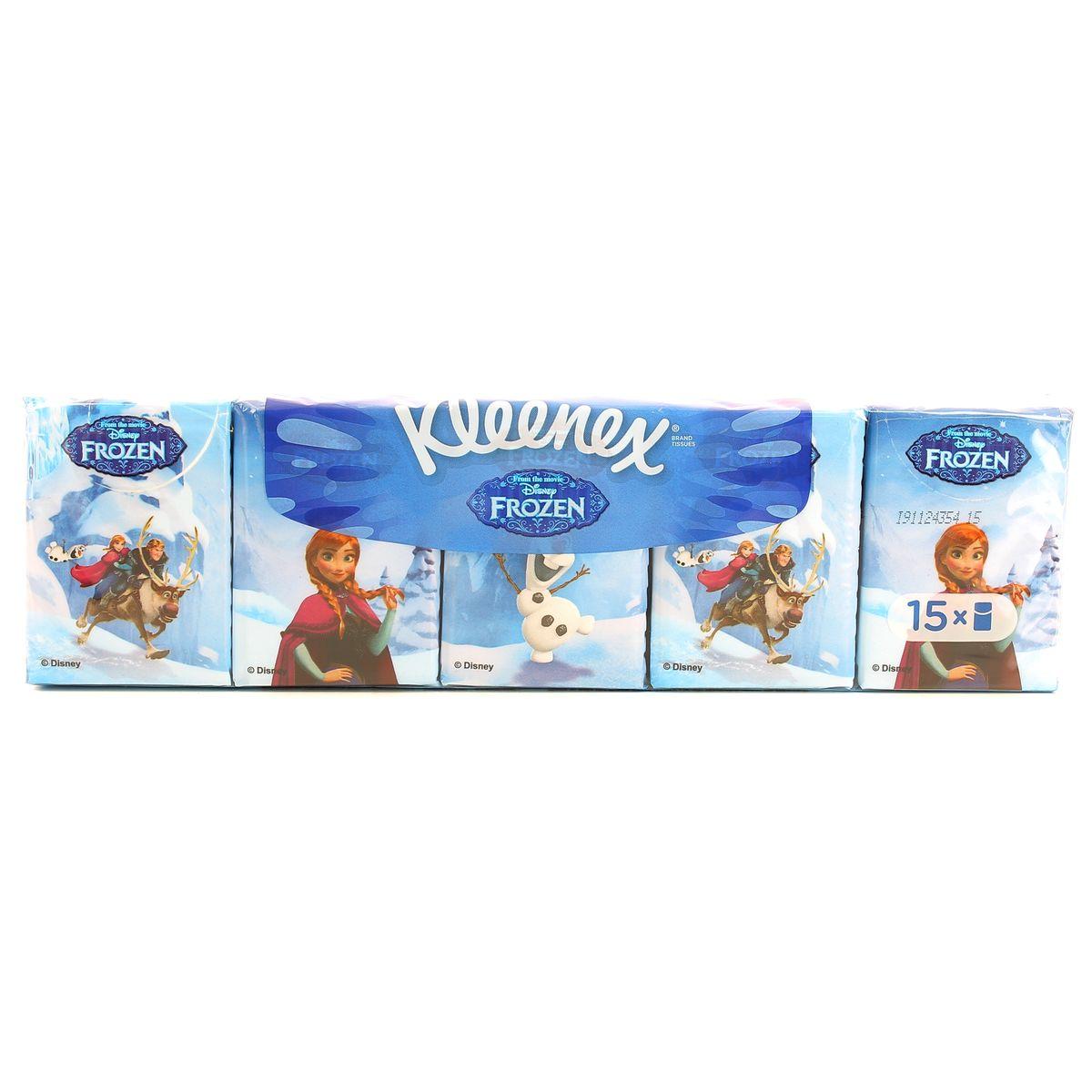 Super Kleenex Mouchoirs étuis La Reine des Neiges, 15 étuis : houra.fr EH31