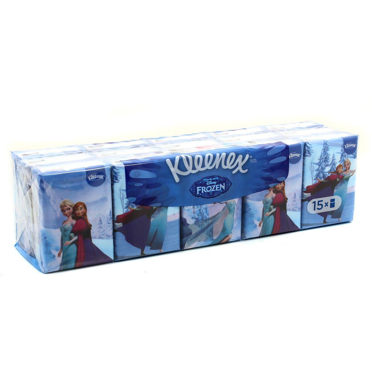 Fabuleux Kleenex Mouchoirs étuis La Reine des Neiges, 15 étuis : houra.fr HM45