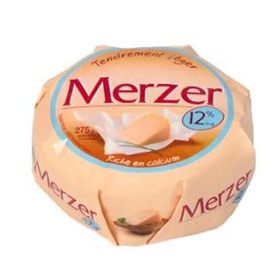 Fromage leger au lait pasteurise LE MERZER, 12%MG, 275g