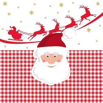 Santa 's sleigh red ,Paperproducts Design,