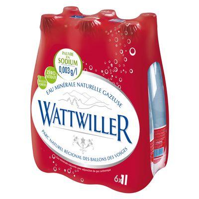 Eau minerale naturelle Fortement Petillante WATTWILLER, 6x1l