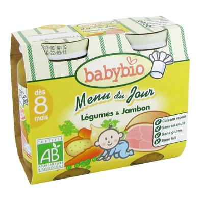 Menu du jour - Petit pot legumes jambon (des 8 mois) De nouvelles textures a faire decouvrir a bebe, sans epaississant.