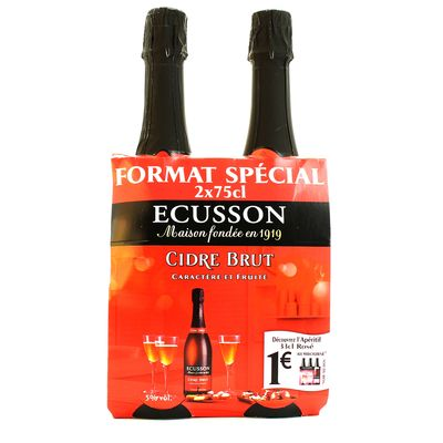 Cidre brut ,ECUSSON,2x75 cl