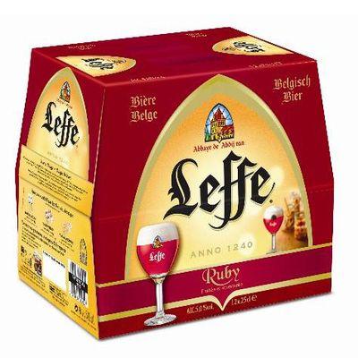 Biere Ruby ABBAYE DE LEFFE, 5°, 12x25cl