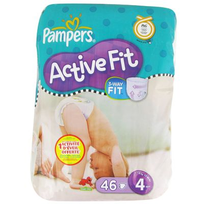 Pampers active fit geant maxi taille 4 7-18kg x46