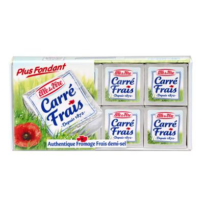 CARRE FRAIS au lait pasteurise, 17,5%MG, 8 portions, 200g