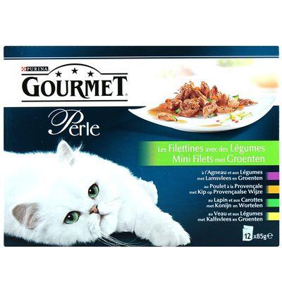 Sachets pour chats Gourmet Multivariétés 12x85g
