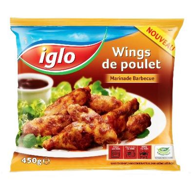 Wings de poulet marines barbecue IGLO, 450g