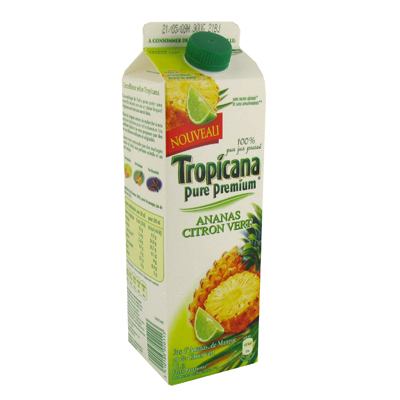 Jus de fruits Tropicana Ananas citron vert 1l