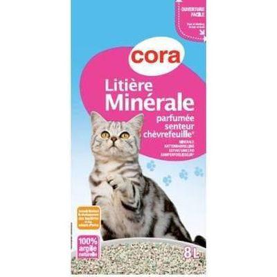 Cora Litière minérale parfumée 8l