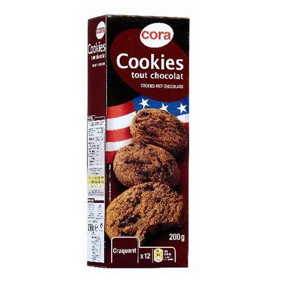 Cookies chocolat amer
