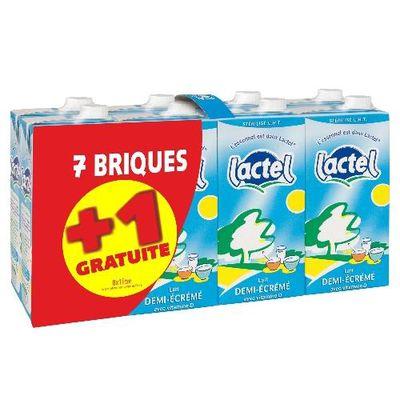 Lactel lait demi-ecreme 7x1l