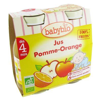 Jus Pomme Orange (des 4 mois) Pur jus bio 100% fruits