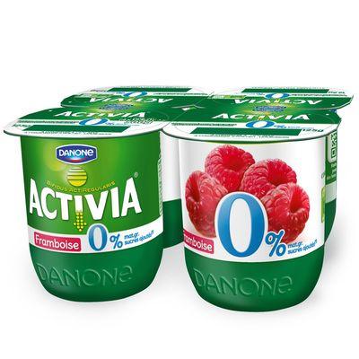 Activia yaourt bifidus framboise 0% mg 4 x 125g