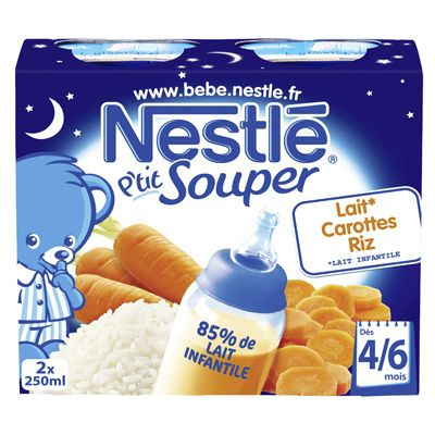 Potage Carotte Nestlé Dès 4 mois 2x250ml