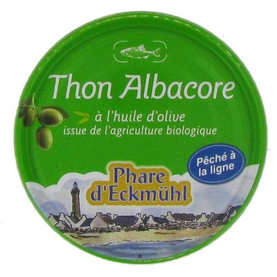 Phare d'Eckmuhl Thon Albacore à l'huile d'olive bio