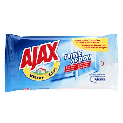 Ajax vitres lingettes classiques x40