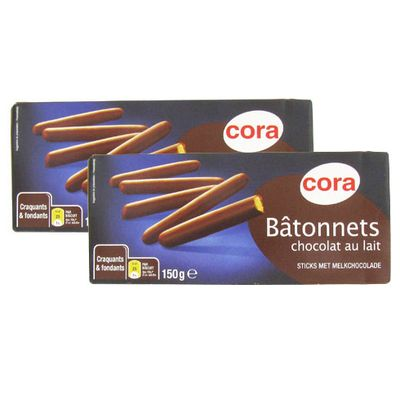 Cora Bâtonnets chocolat au lait