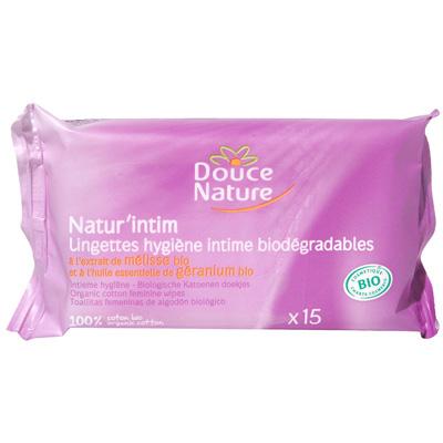 Lingettes en coton Cosmébio,DOUCE NATURE,15 l