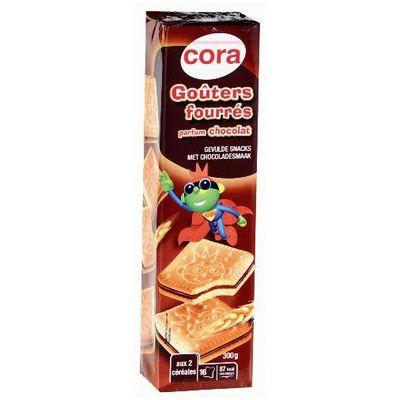Goûters fourrés au chocolat ,CORA,300g